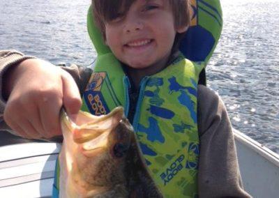 Preston's first fish.....